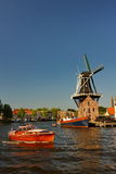 Mill on the waterside. Dutch mill on the waterside Royalty Free Stock Photography