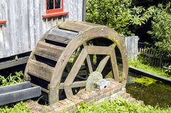 Mill with Waterwheel Stock Images