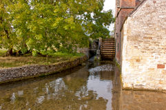 Mill Wheel in Lower Slaughter Stock Photos
