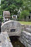 Mill wheel on Madeira Island, Galway city stock images