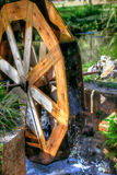 Mill Wheel at the Pond Royalty Free Stock Photos