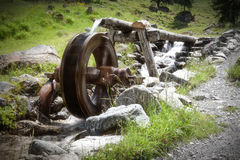 Mill wheel in th austrian mountain Stock Photography
