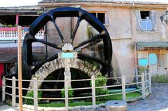 Mill wheel turning, Saint Augustine, FL Stock Photography