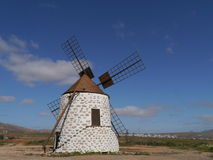 The mill with white plaster in Valles de Ortega Stock Photos