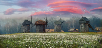 mill, wiatr drewna Fotografia Stock