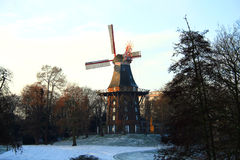 Mill In Winter Season Stock Photography