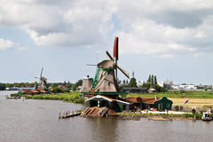 Mill at Zaanse Schans. Netherlands royalty free stock images