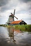 Mill at Zaanse Schans. Netherlands royalty free stock photo