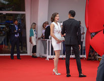 Milla Jovovich. Attends the 'Cymbeline' Premiere during the 71st Venice Film Festiva on September 3, 2014 Stock Photos