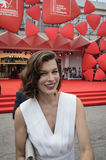 Milla Jovovich. Attends the 'Cymbeline' Premiere during the 71st Venice Film Festiva on September 3, 2014 Royalty Free Stock Photos