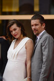 Milla Jovovich and Ethan Hawke. Milla Jovovich  and Ethan Hawke attends the 'Cymbeline' Premiere during the 71st Venice Film Festiva on September 3, 2014 Royalty Free Stock Photos