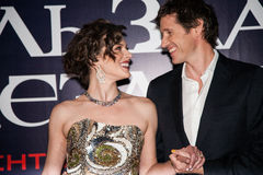 Milla Jovovich and Paul W.S. Anderson Stock Photography