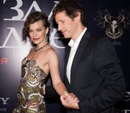 Milla Jovovich and Paul W.S. Anderson Stock Photos