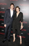 Milla Jovovich and Paul W.S. Anderson Royalty Free Stock Photos