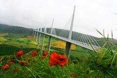 millau高架桥 图库摄影