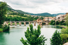 Millau, στον ποταμό Tarn, στη νότια Γαλλία Στοκ Φωτογραφίες