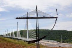 Millau-Brücke, Frankreich Stockbild