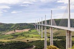 Millau-Brücke, Frankreich Lizenzfreie Stockfotografie