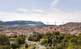 Millau-Brücke, Frankreich Stockfotografie