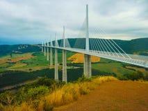 Millau-Brücke Süd-Frankreich Stockbild