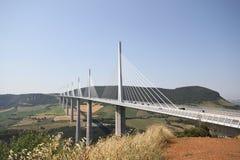 Millau Bridge stock photography