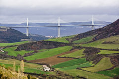 Millau bridge Stock Images
