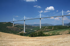 Millau bridge in France Royalty Free Stock Images