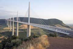 Millau Bridge. France. Hi Res Royalty Free Stock Photography