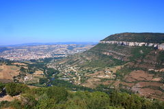 Millau city in France Royalty Free Stock Images