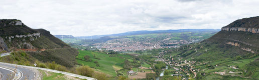 Millau Valley Stock Photo