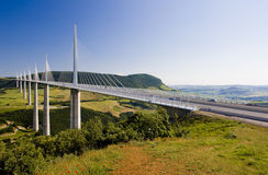 Millau Viaduct stock image
