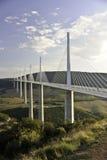 millau viaduct Arkivbild