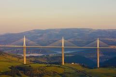 millau viaduct Royaltyfri Fotografi