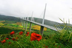 Millau Viaduct Stock Photography