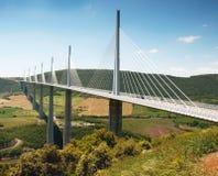 millau viaduct Fotografering för Bildbyråer