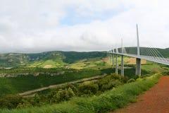 millau viaduct royaltyfria foton