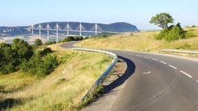 Millau Viaduct. Stock Photo