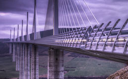 Millau Viaduct Bridge in France Royalty Free Stock Photo
