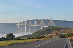 Millau Viaduct Bridge Stock Photo