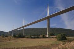 Millau viaduct France Royalty Free Stock Image