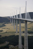 Millau viaduct France Royalty Free Stock Photography