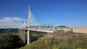 The Millau Viaduct in France stock video
