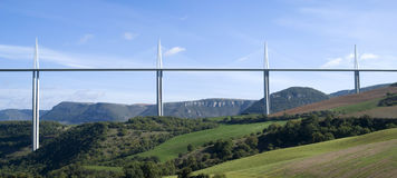 Millau Viaduct Stock Photography