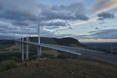 The Millau Viaduct tallest bridge in the world. stock photography