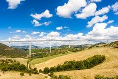 Millau wiadukt Obrazy Stock