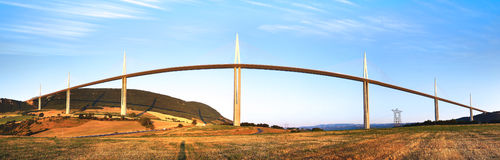 Millauviaduct Royalty-vrije Stock Foto