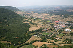 Millauviaduct und das Tarn-Tal Lizenzfreie Stockfotos