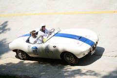 1954年Mille的Miglia阿斯顿・马丁DB2/4 库存照片