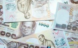 Mille banconote tailandesi del bagno Immagini Stock