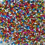 Mille comprimés, pilules et drogues colorés Photographie stock libre de droits